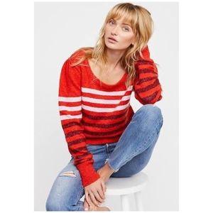 Free People Complete Me Striped Alpaca Sweater